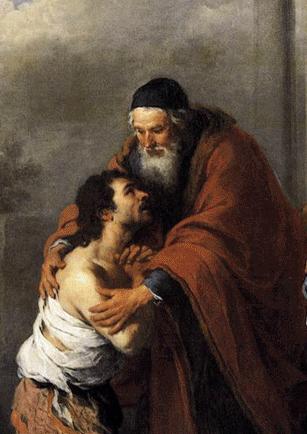 """""""Y entrando en sí mismo, dijo... 'Me levantaré, iré a mi padre y le diré: Padre, pequé contra el cielo y ante ti'""""."""