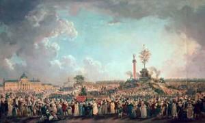 Fiesta del Ser perfecto en el Campo de Marte de Pierre-Antoine Machy (Museo Carnavalet, París)